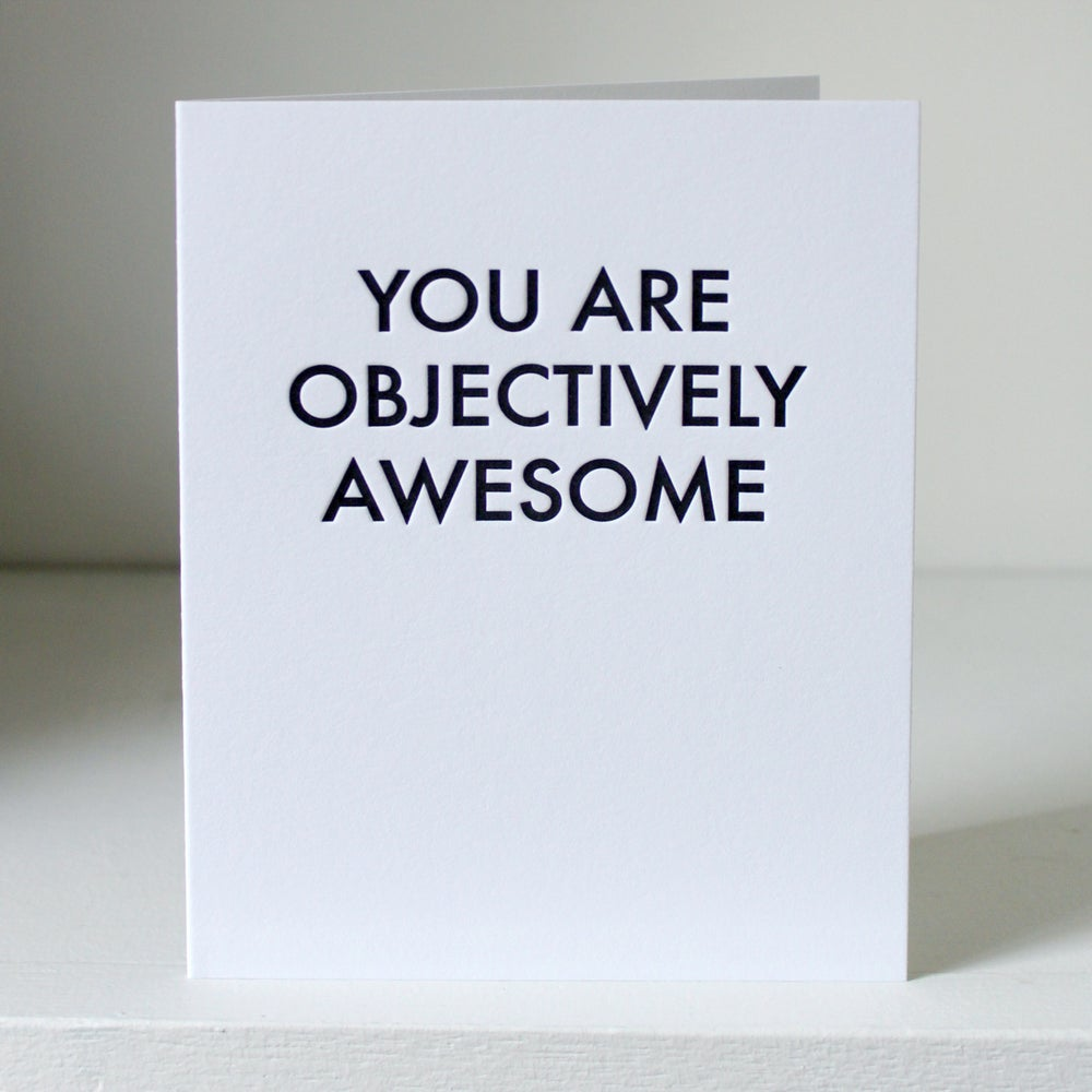 Image of You are awesome, letterpress card