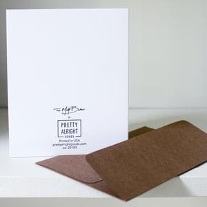 Image of Old but Hot, letterpress card