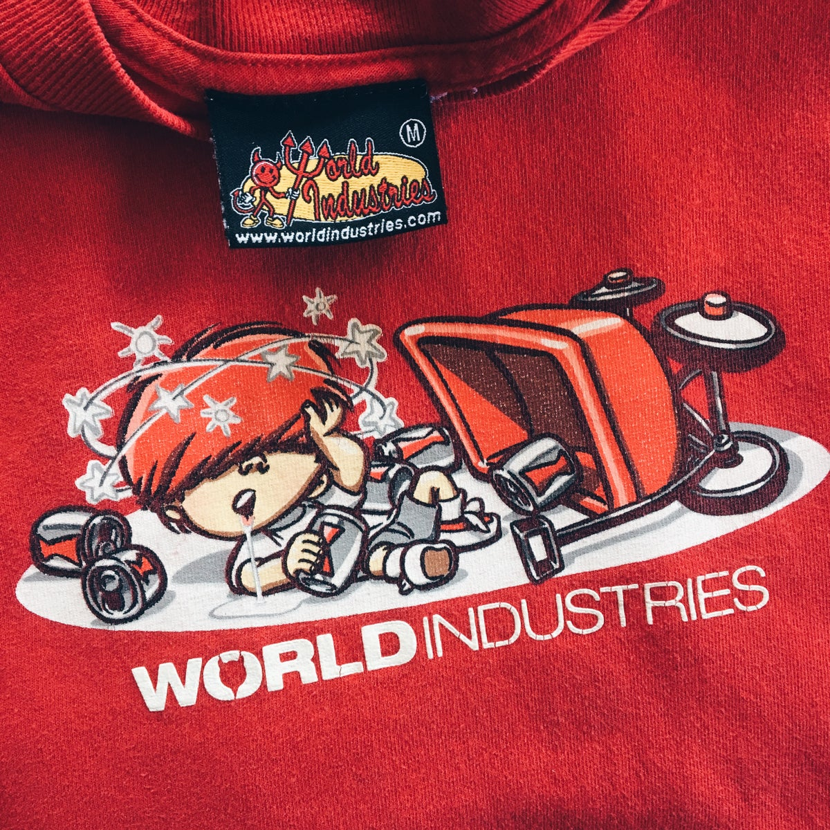 Image of Original 2000 World Industries Mike Crum Tee.