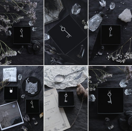 Image of PASSE-PARTOUT, OUBLIETTES. DUNGEON SYNTH. KEY TALISMAN ↟ sustainable recycled sterling silver