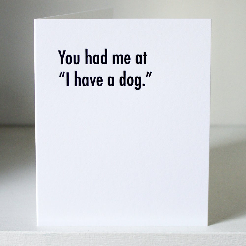 Image of You had me at, letterpress card