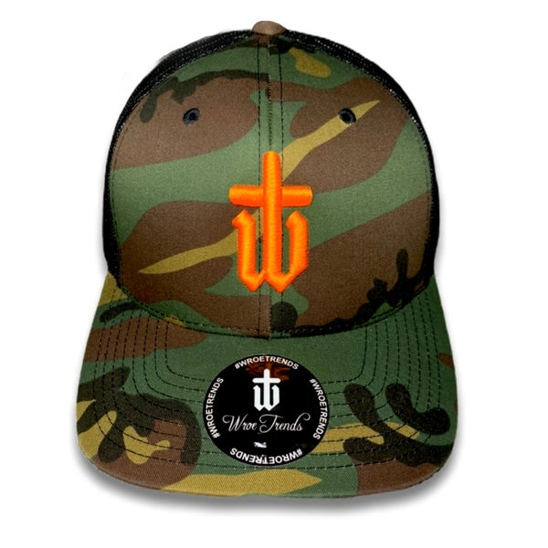 Image of CAMO TRUCKER • NEON ORANGE