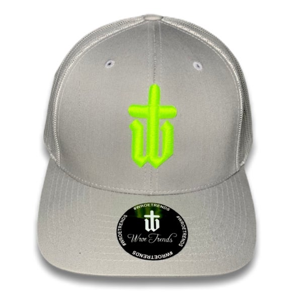 Image of GREY TRUCKER • NEON YELLOW