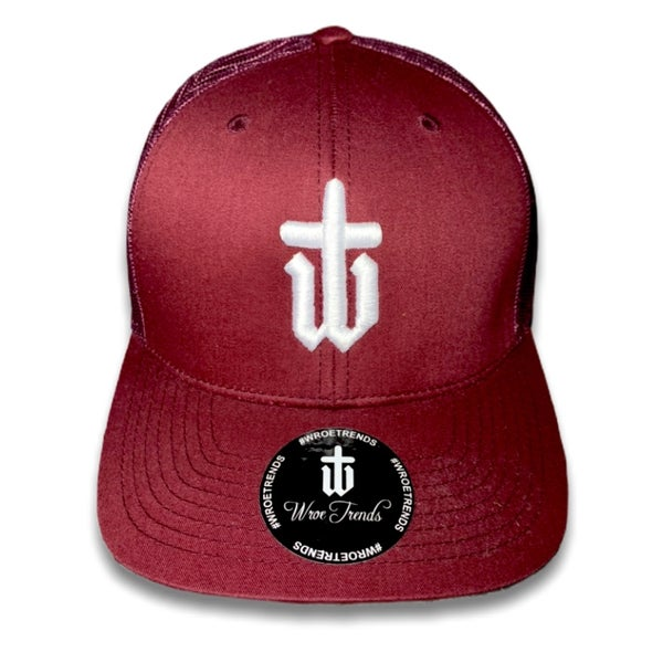 Image of MAROON TRUCKER • WHITE