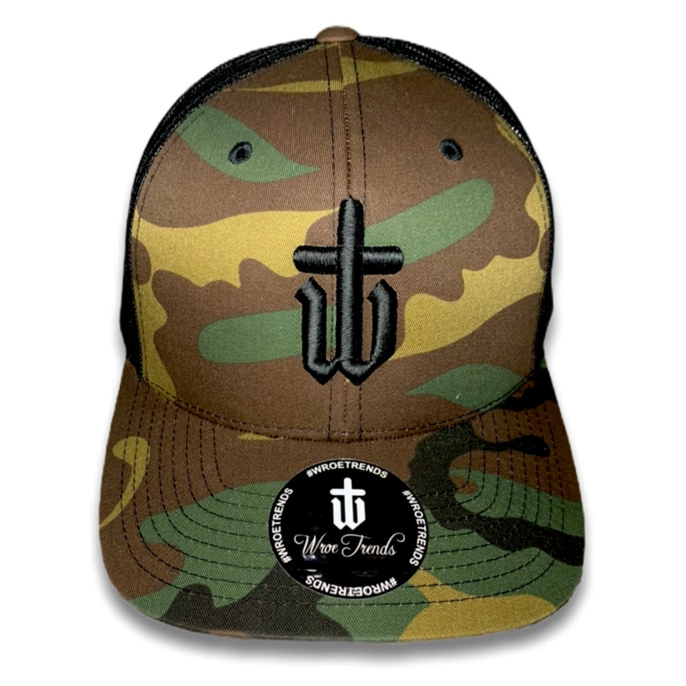 Image of CAMO TRUCKER • BLACK
