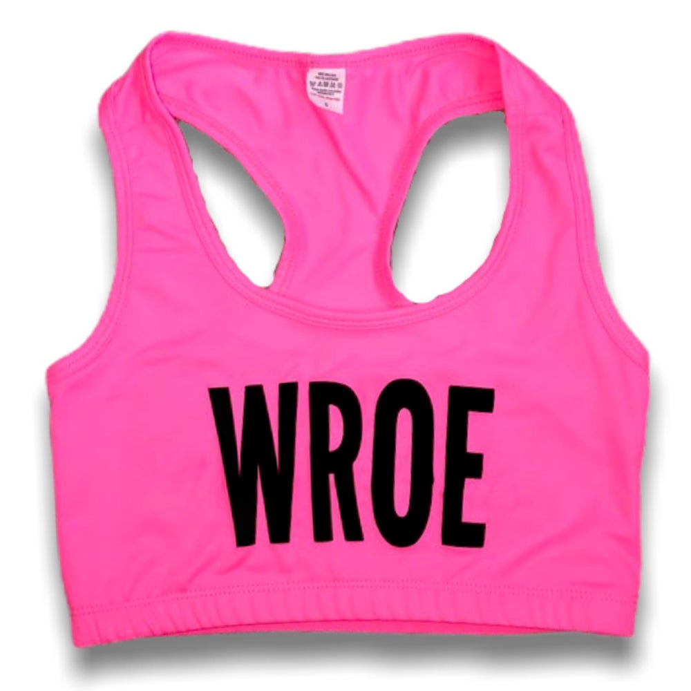 Image of NEON PINK SPORTS BRA
