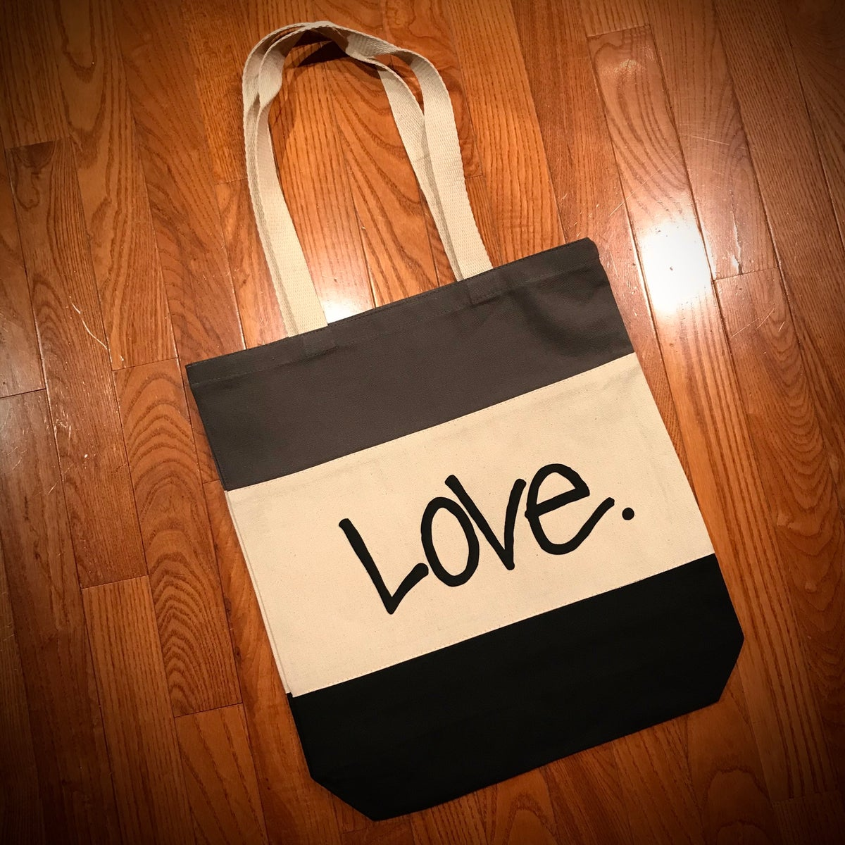 "Image of Multicolor ""Love...period!"" Tote Bag"