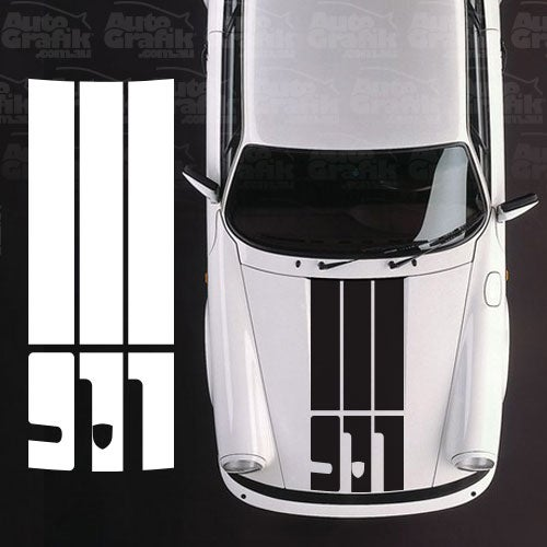 Image of G-SERIES HOOD SAFETY STRIPES WITH BADGE CUT OUT
