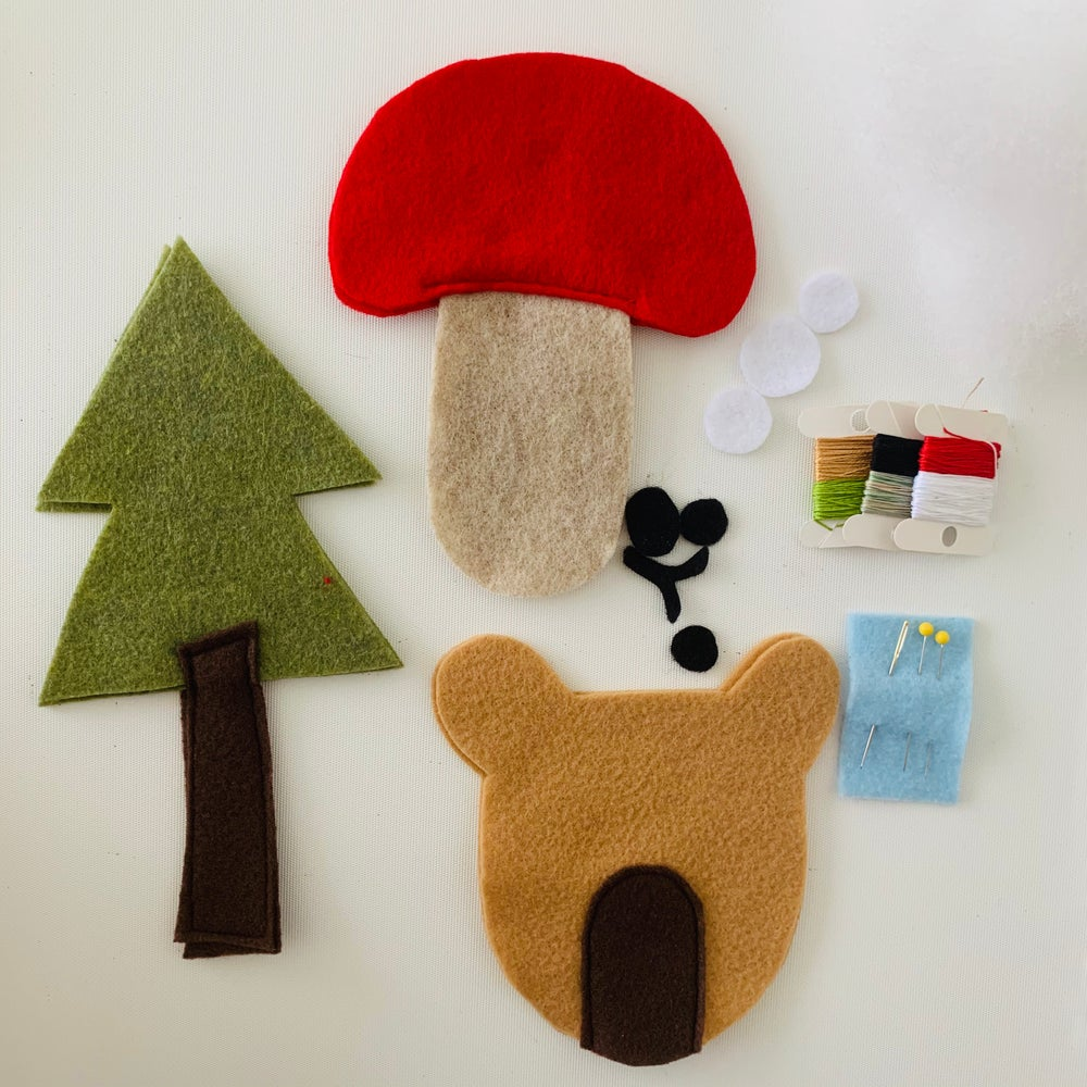Image of Woodland Critters - Pre-cut Felt