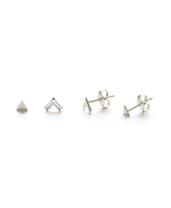 Image of Amano Silver Insignia Combo Stud Earrings