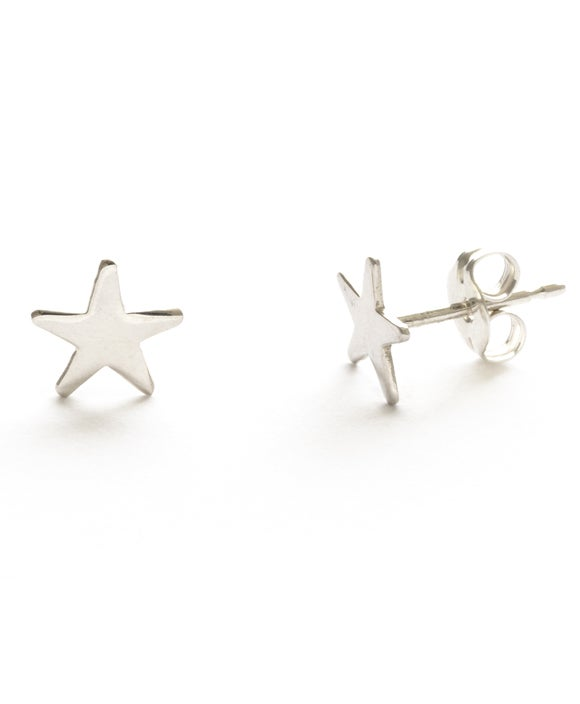 Image of Amano Silver Tiny Star Stud Earrings