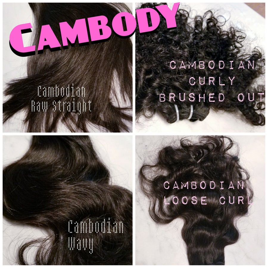 Image of Cambody Raw Cambodian Hair Sample Box