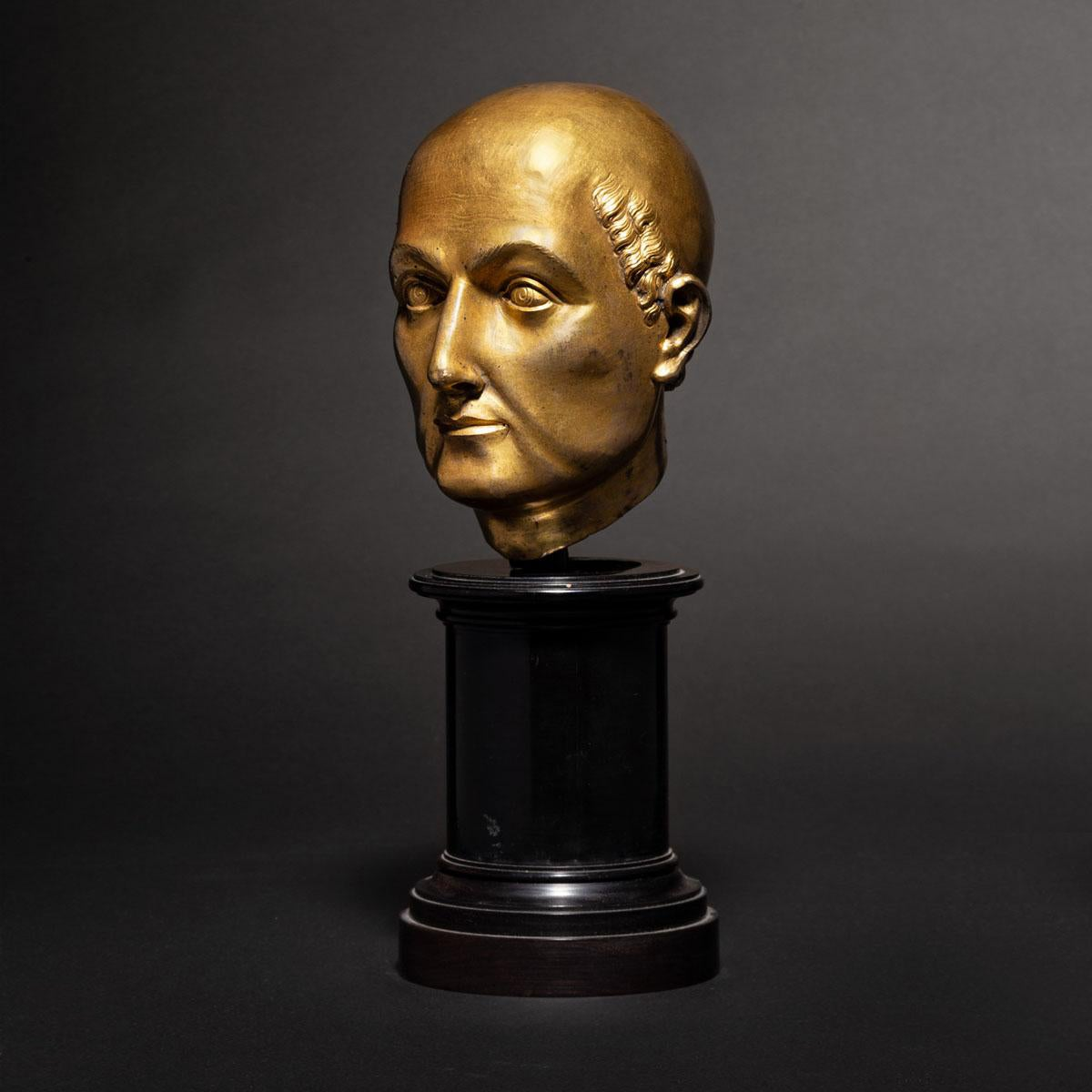 Image of 16th century Florentine gilt bronze Bust of a Saint, possibly by Baccio Bandinelli or circle