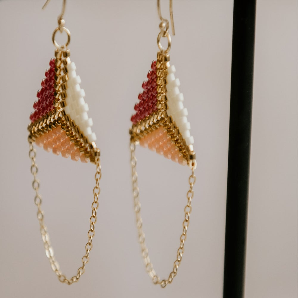 Image of Kikki Peyote Stitch Earrings