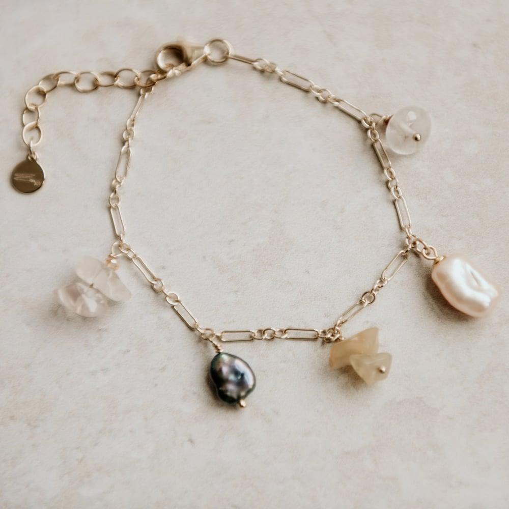 Image of Pearl Charm Bracelet