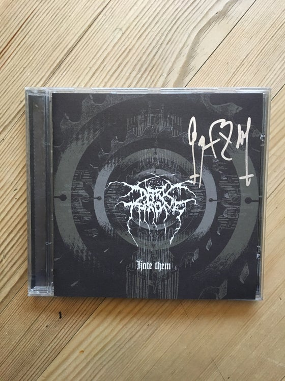 Image of Darkthrone Hate them sign cd