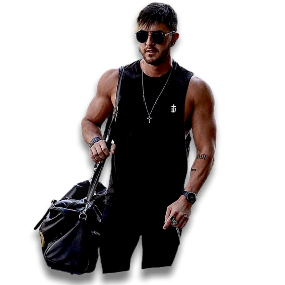 Image of BLACK SLEEVELESS TEE