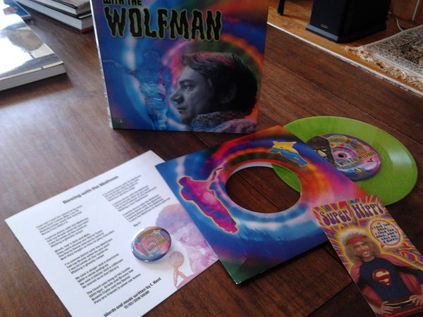Image of 'Dancing With the Wolfman' vinyl single b/w 'In the Monster's Studio' interview.