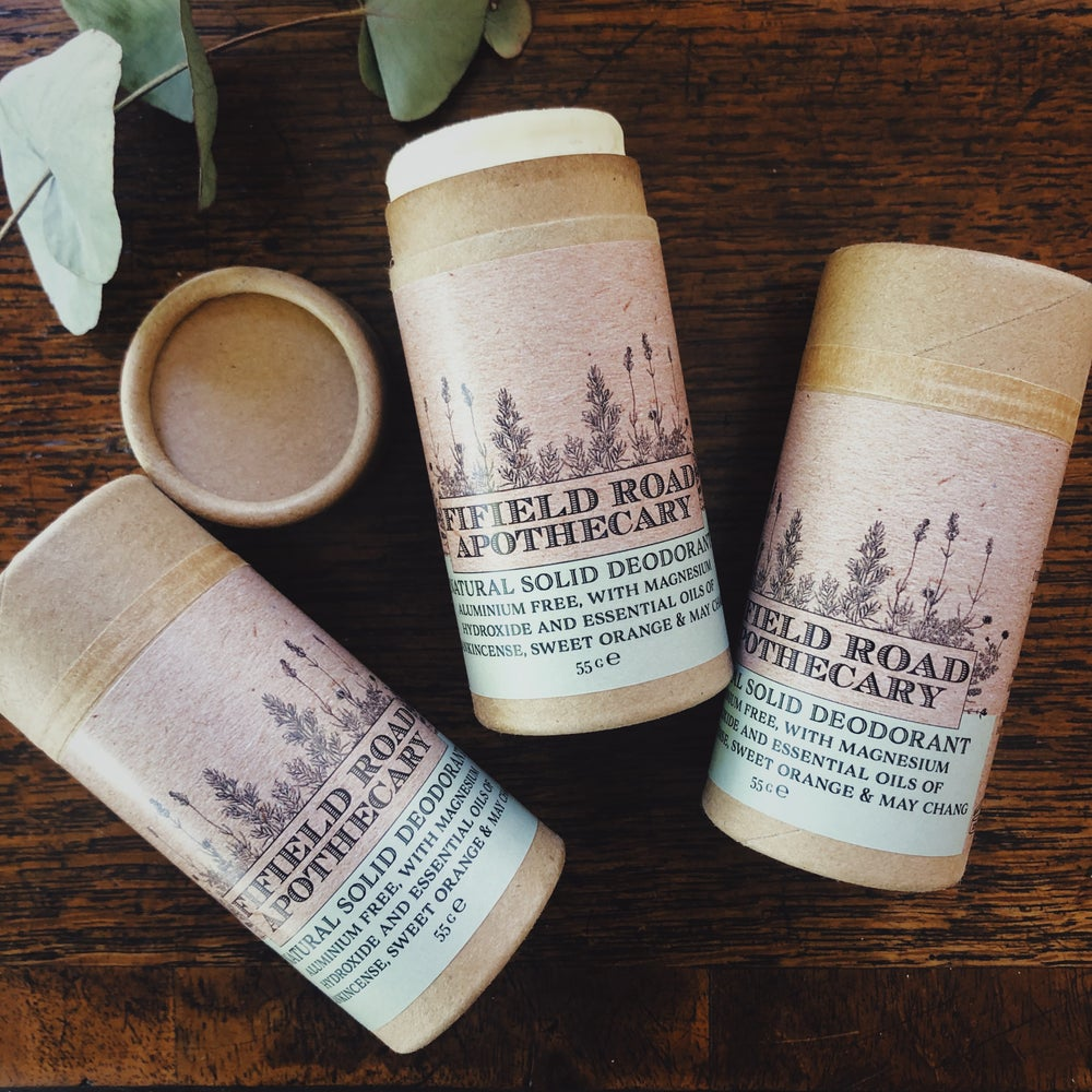 Image of Natural Solid Deodorant Stick with Sweet Orange and Frankincense