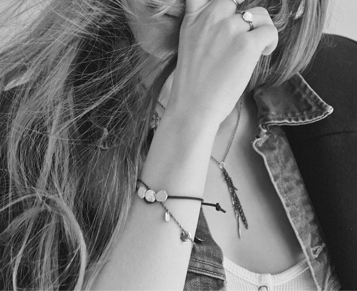 Image of Three Maine Rock Leather Bracelet