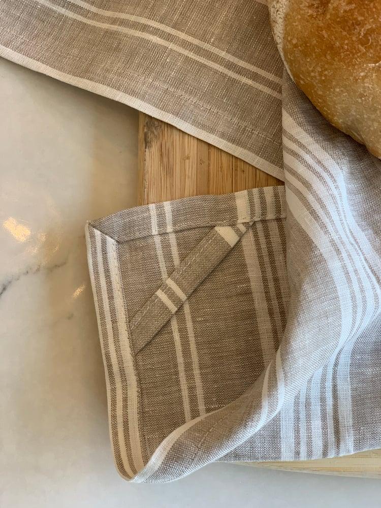 Image of Striped Tea Towel