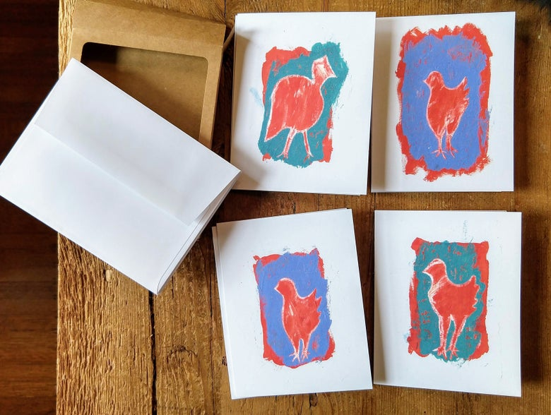 Image of 4 Chicks notecard set