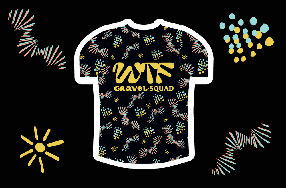 Image of WTF Bikexplorers Gravel Squad Tech Tee *Squad Members Only Pre-Order*