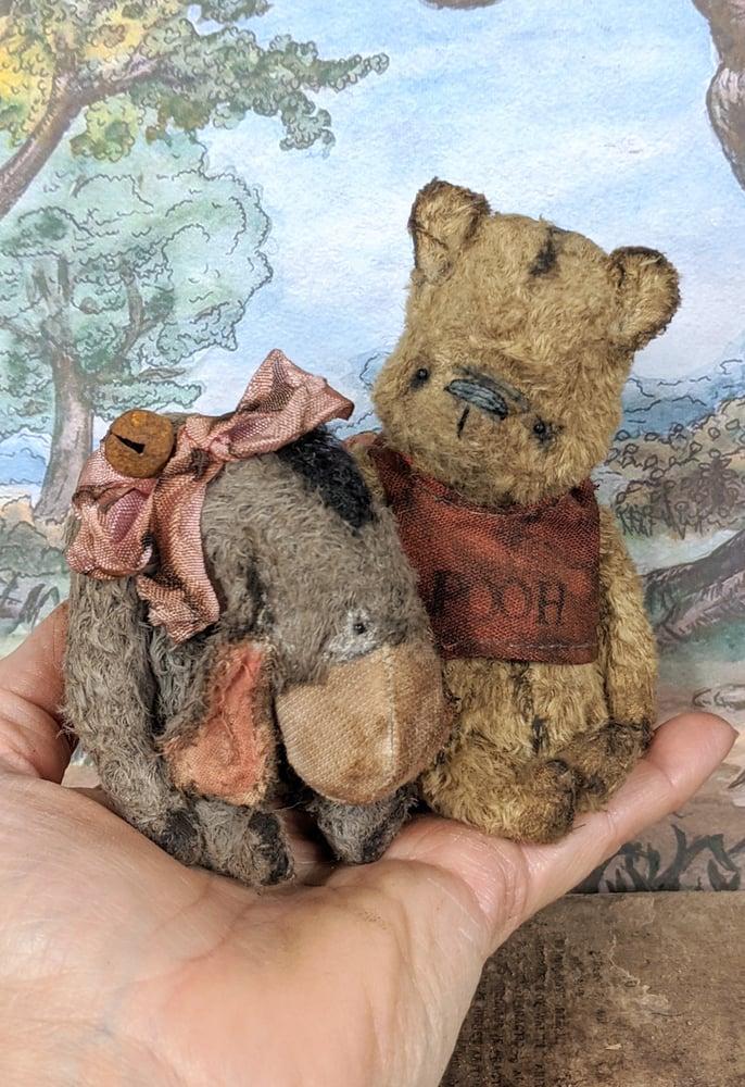 """Image of SET- Pooh & Eeyore Teenie-Weenie 4"""" classic style by whendis bears"""