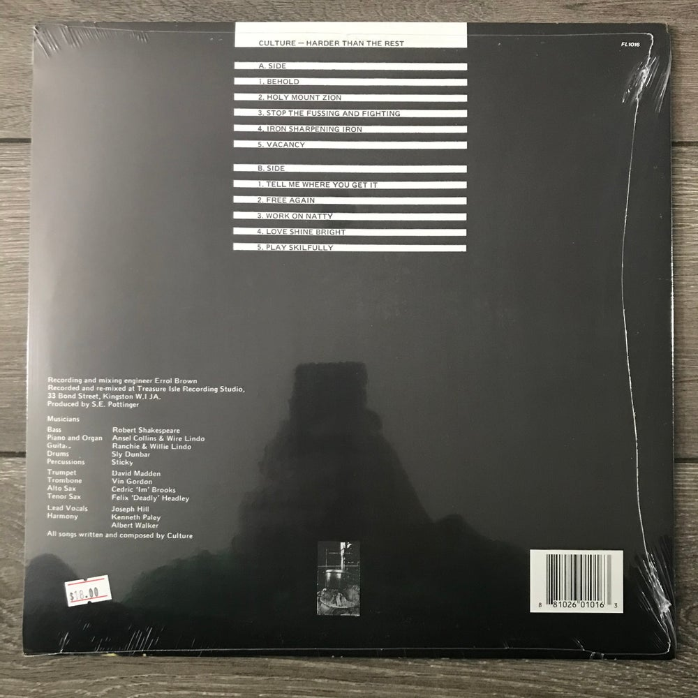 Image of Culture - Harder Than The Rest Vinyl LP