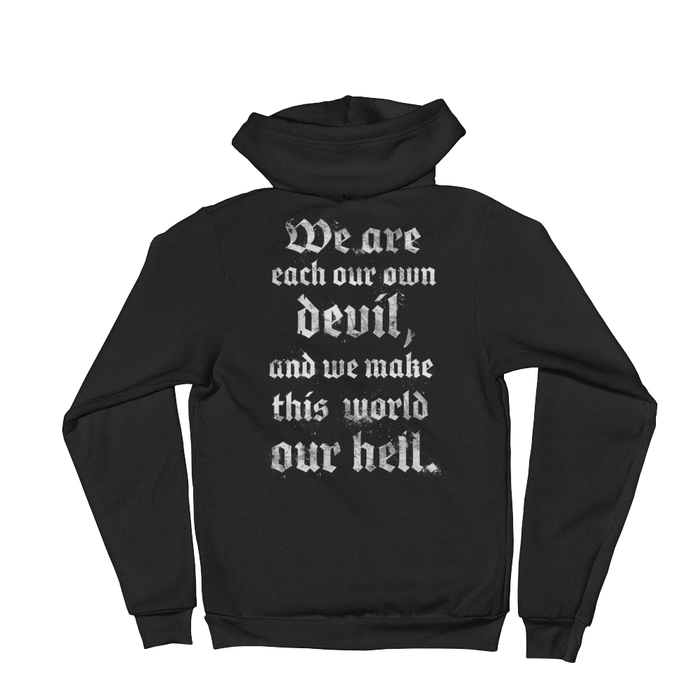 Image of WE ARE OUR OWN DEVIL - ZIP HOODIE