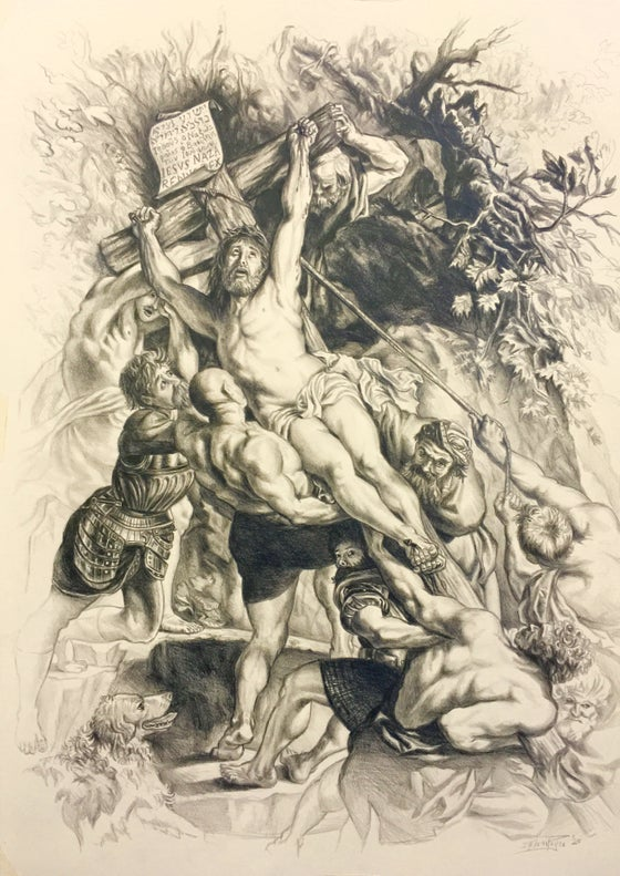 Image of Elevation of the Cross - Peter Paul Rubens Study