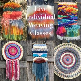 Individual Weaving Class (you and me) Live through Zoom on our Computers