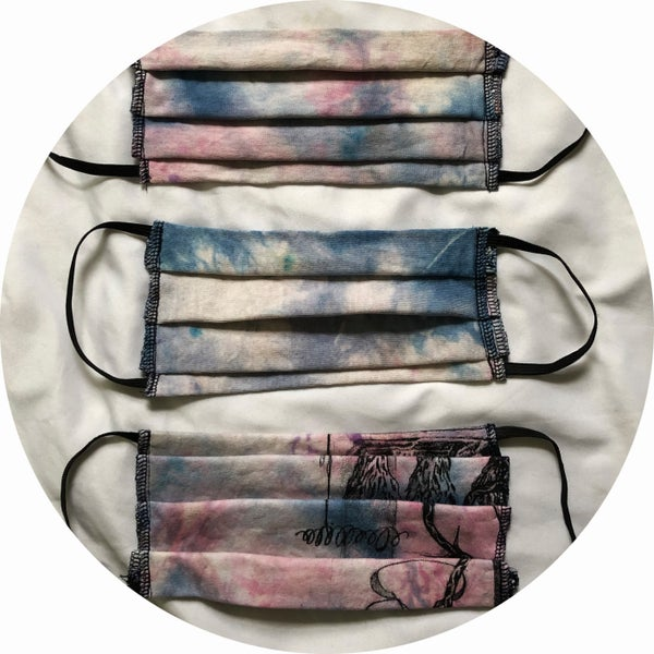 Image of COVID-19 Tie Dye Mask