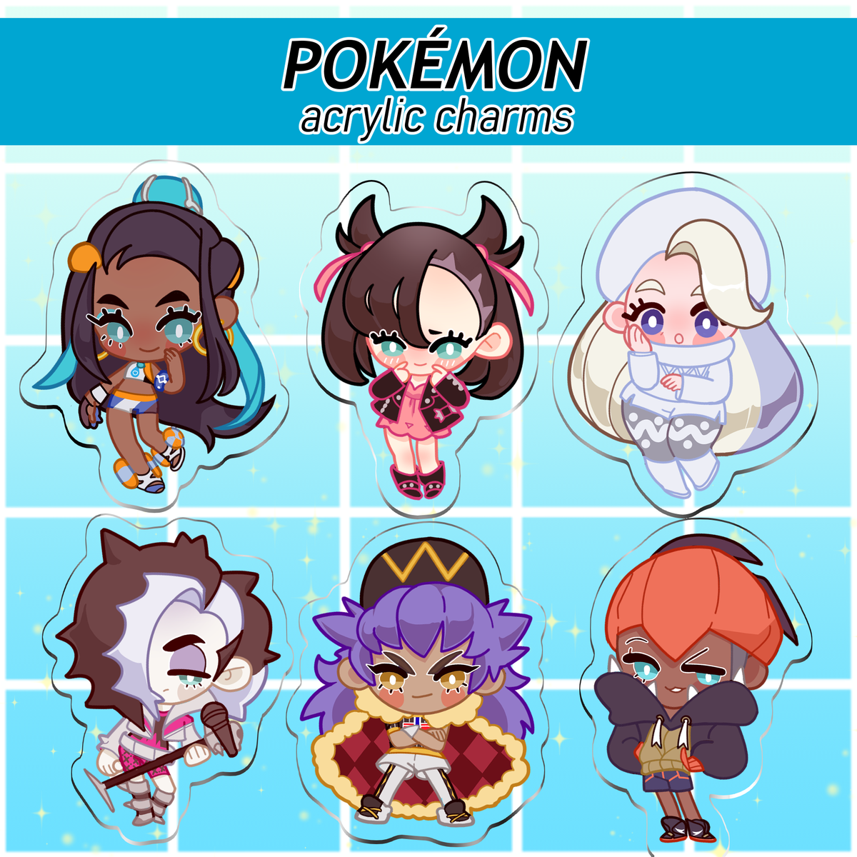 Image of Pokémon SWSH Acrylic Charms