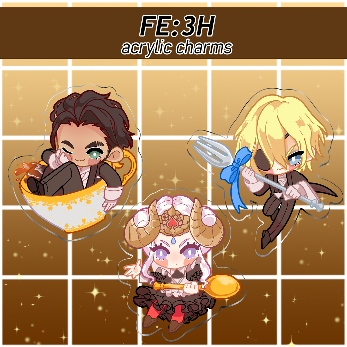 Image of Fire Emblem: Three Houses Maid/Butler DLC Acrylic Charms