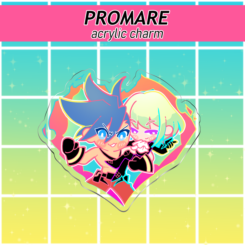 Image of Promare Holographic Acrylic Charm