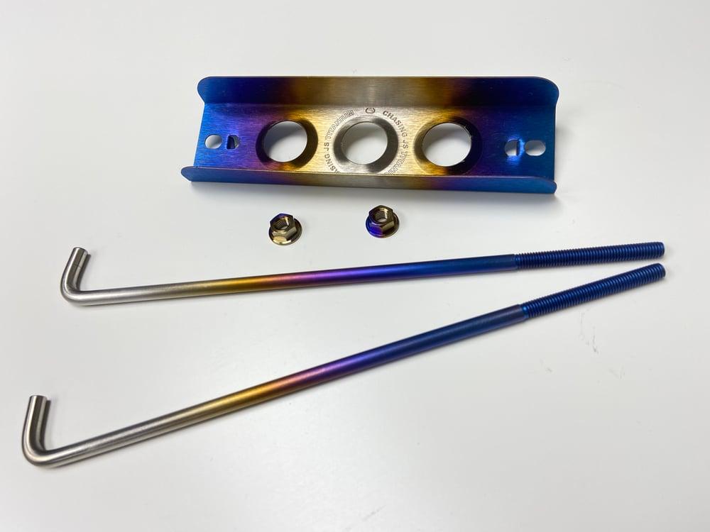 Small Titanium Battery tie down kit