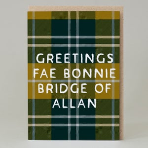 Image of 'Greetings Fae....' Tartan (Card)