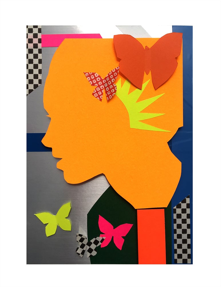 Image of 3D BUTTERFLY ORANGE COLLAGE. 2020.