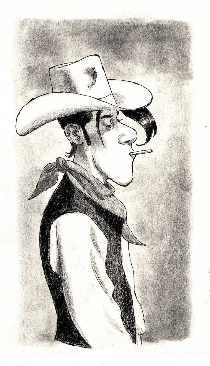 Image of Lucky Luke homage