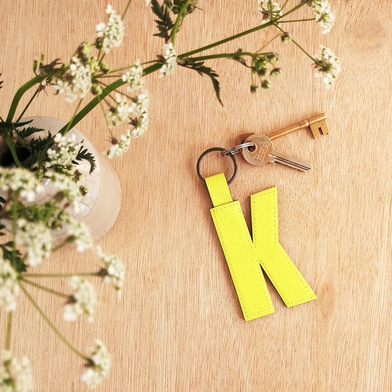 Image of CONTEMPORARY alphabet letter keyrings