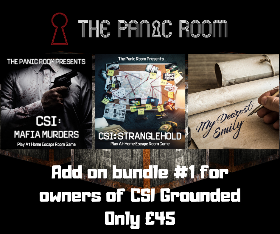 Image of Online Escape Room Add-on Bundle #1 (For CSI: Grounded Owners)
