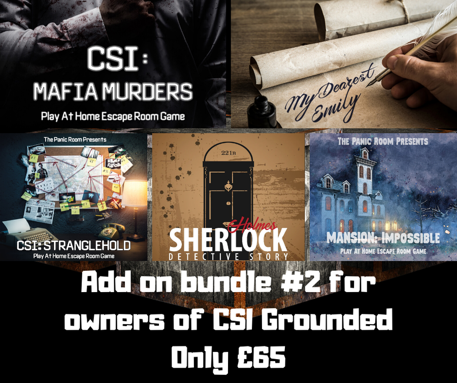 Image of Online Escape Room Add-on Bundle #2 (For CSI: Grounded owners)