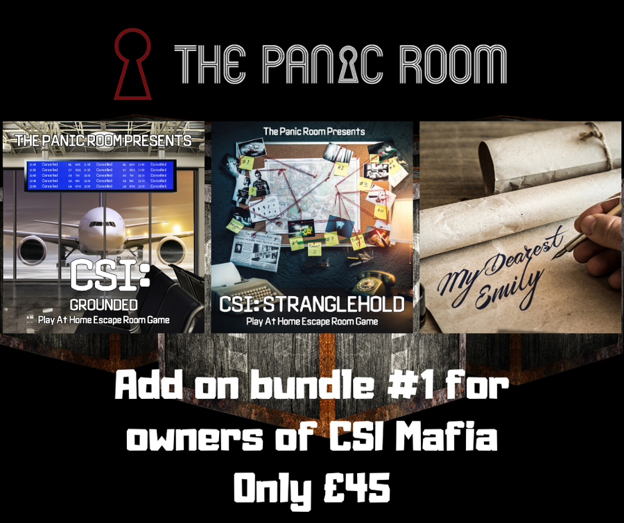Image of Online Escape Room Add-on Bundle #1 (For CSI: Mafia Murders Owners)