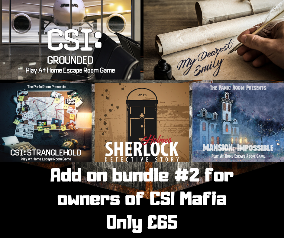Image of Online Escape Room Add-on Bundle #2 (For CSI: Mafia owners)