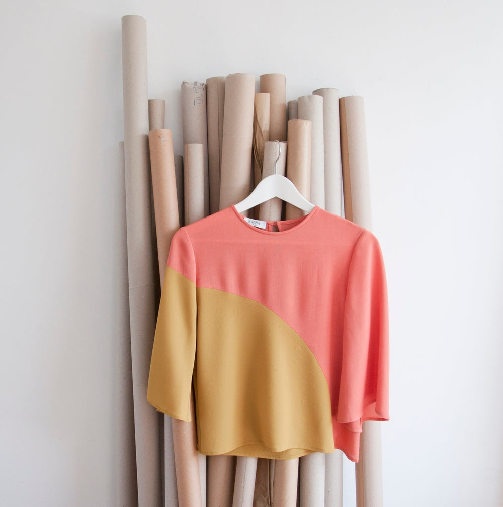 Image of COLOUR BLOCK BLOUSE