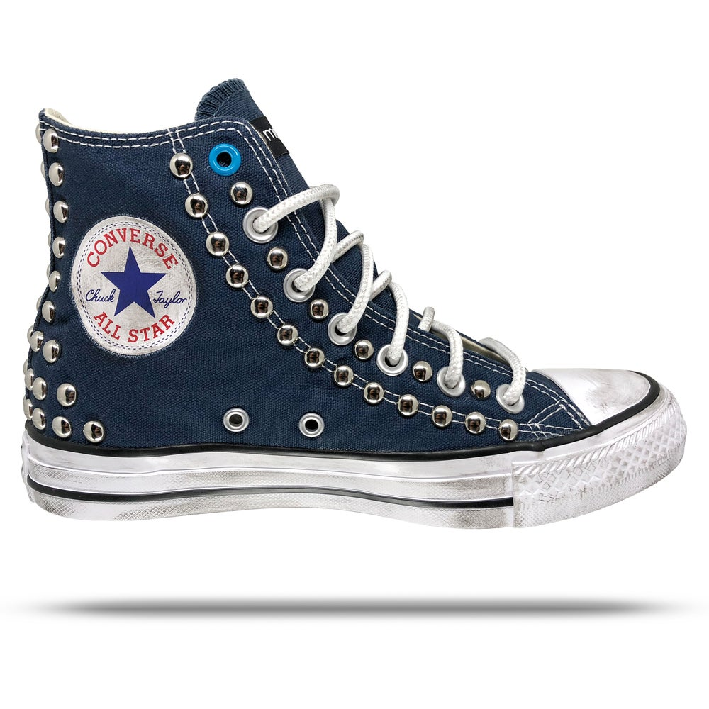 Image of Converse All Star - Silver Studs.