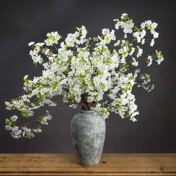 Image of White Cherry Blossom Spray