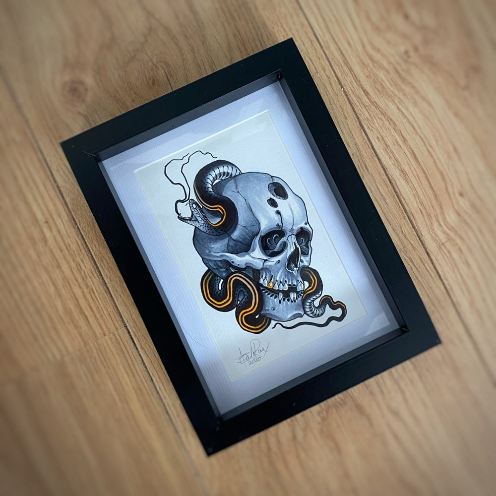 Image of A6 SKULL/SNAKE - *ORIGINAL*