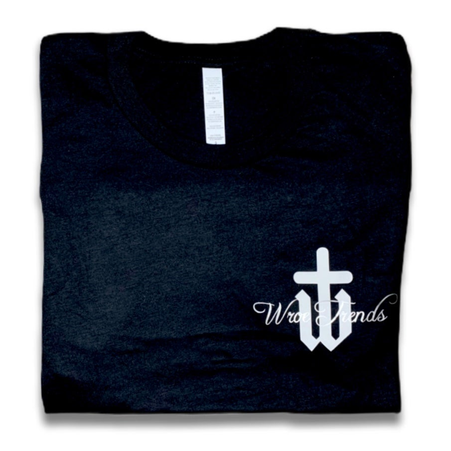 Image of BLACK SMALL SILVER LINING TEE